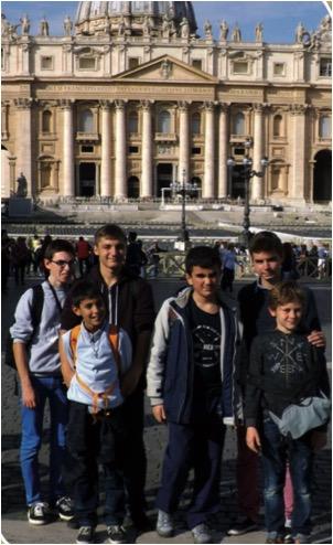 pèlerinage enfants coeur Assise et Rome
