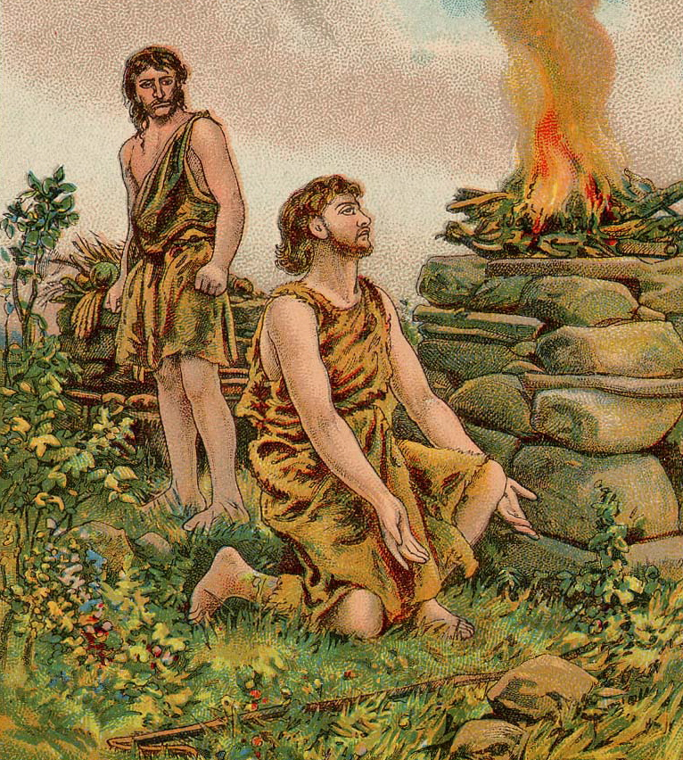 The Story of Cain and Abel Bible Card