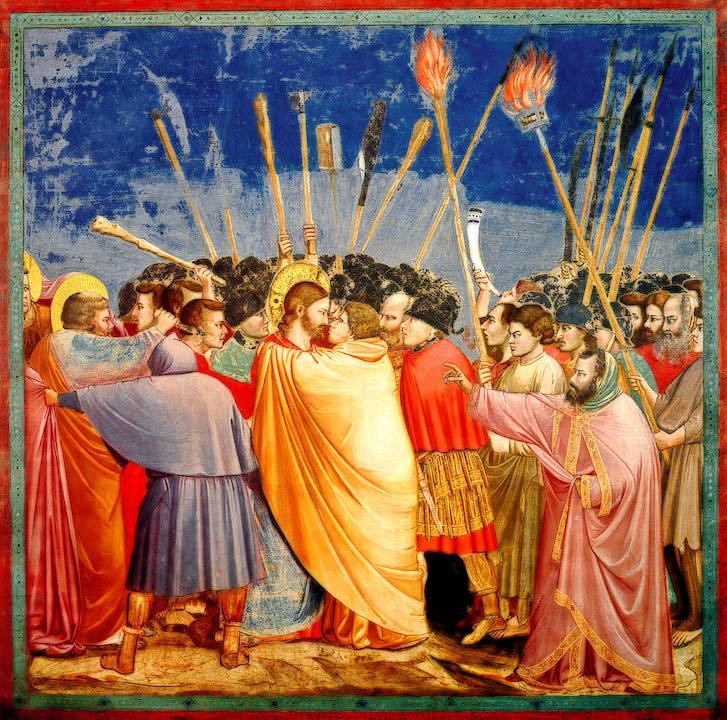 Giotto di Bondone The Arrest of Christ Kiss of Judas 3